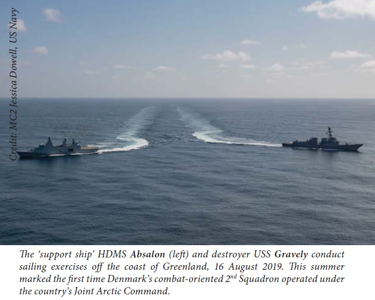 HDMS Ship with USN