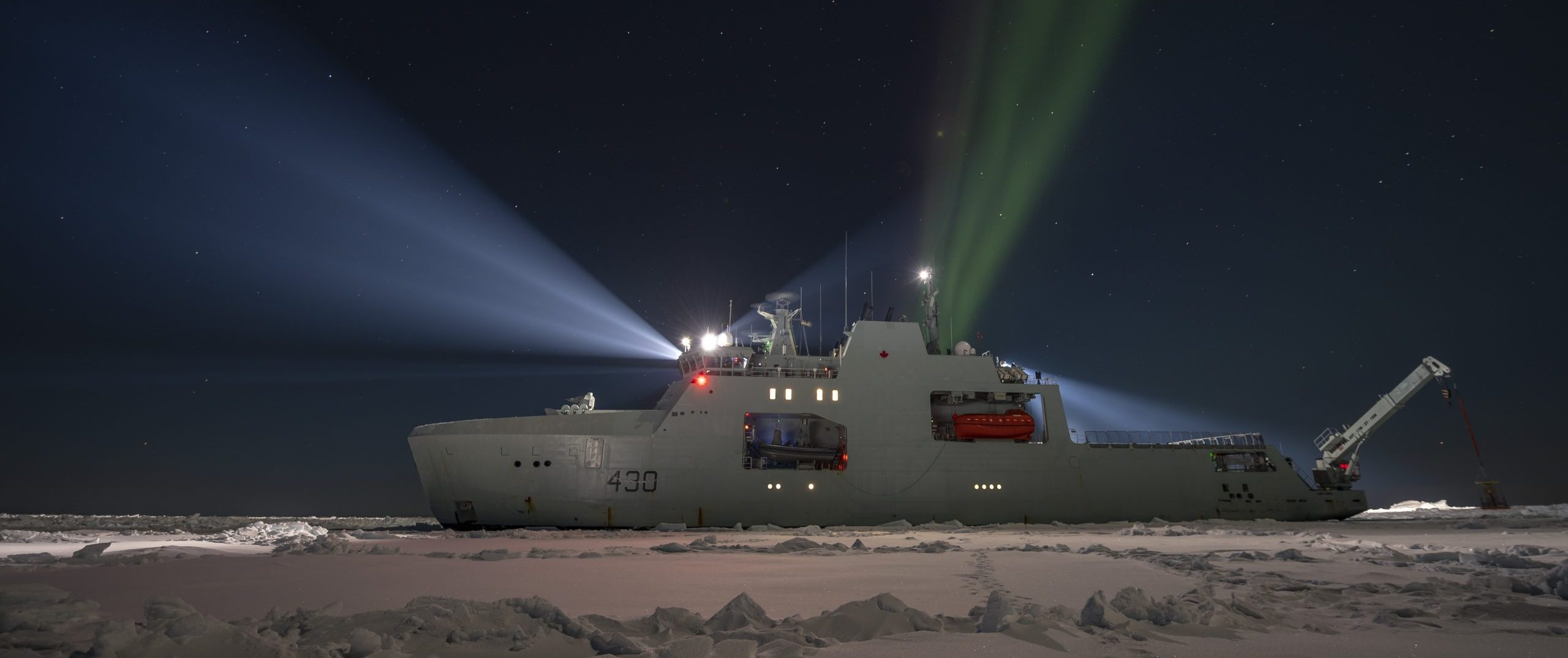 HMCS Harry Dewolf in ice trials