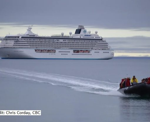 Cruise ship in Arctic