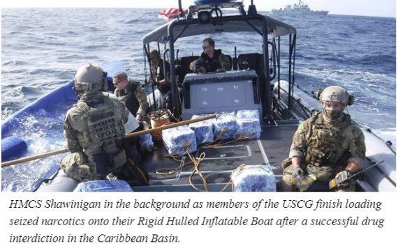 HMCS Shawinigan Op Caribbe 21