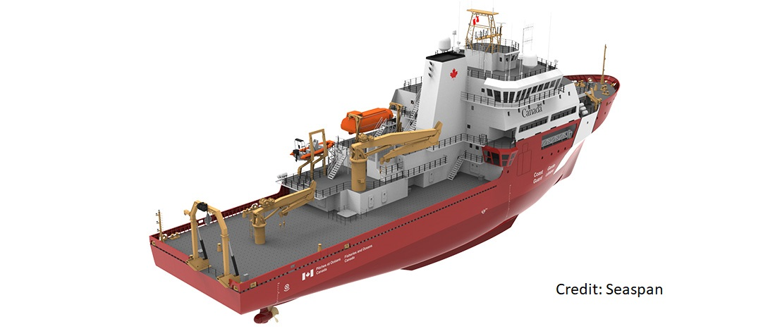 Rendering of the Offshore Oceanographic Research Vessel