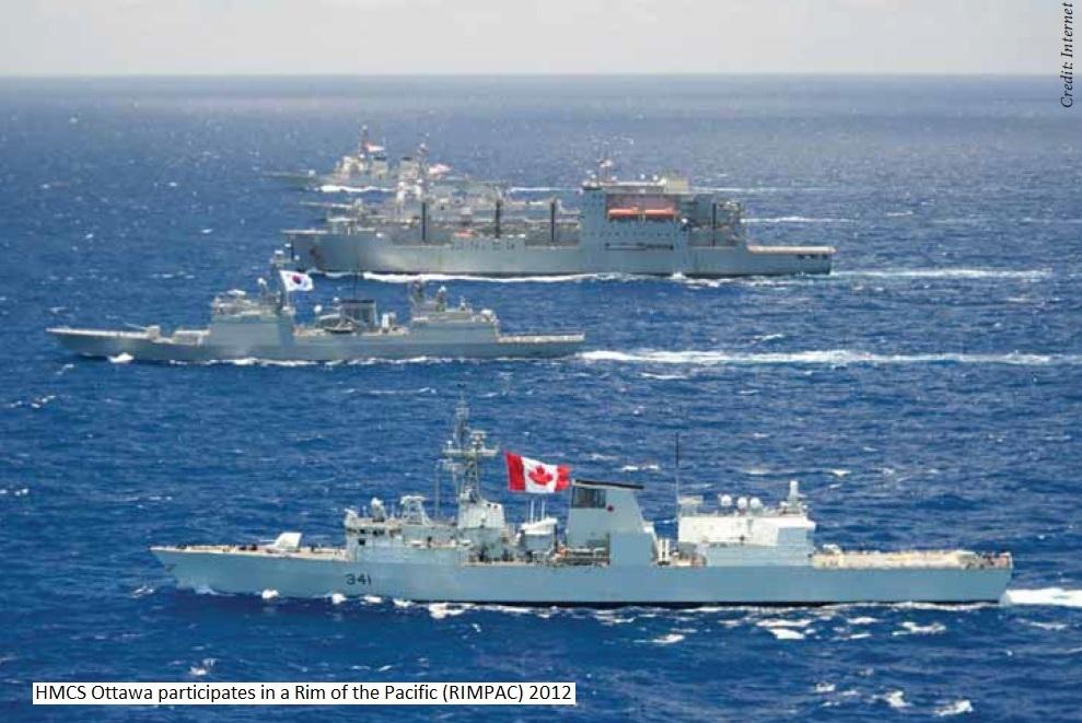 HMCS OTT at RIMPAC 2012