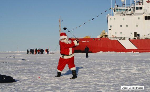 Santa on CCG ship
