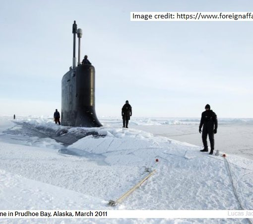 USN sub in Arctic 2011