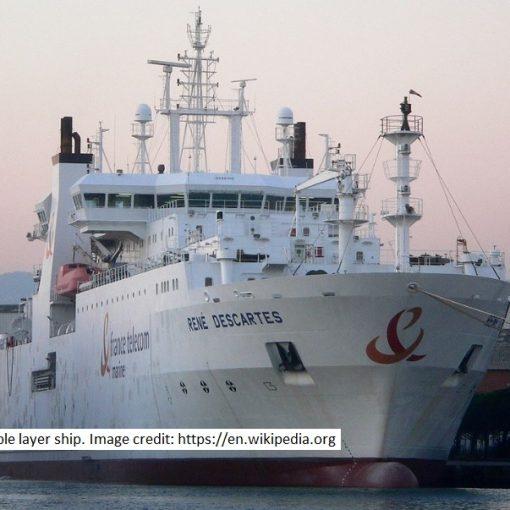 Undersea cable ship