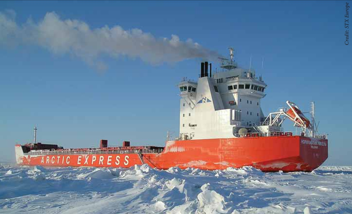 China ships thru arctic