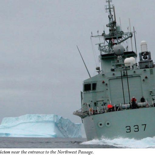 Frigate in Arctic