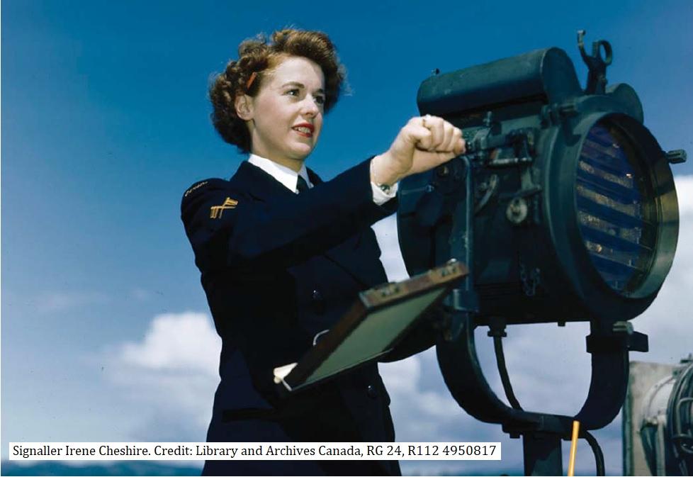 Signaller Irene Cheshire